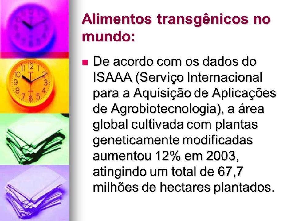 Alimentos transgênicos no mundo:
