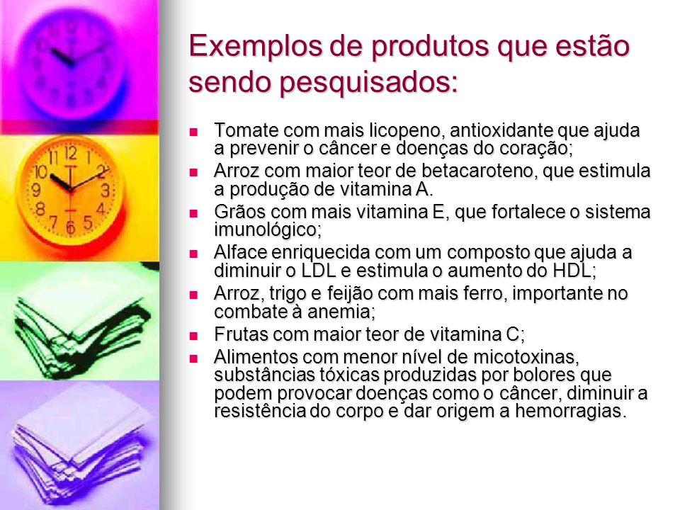 Exemplos de produtos que estão sendo pesquisados: