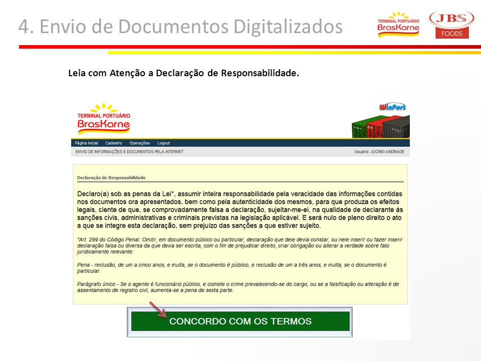 4. Envio de Documentos Digitalizados