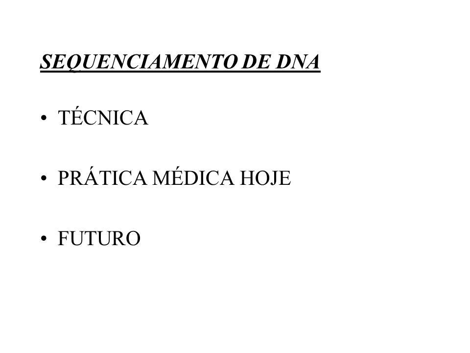 SEQUENCIAMENTO DE DNA TÉCNICA PRÁTICA MÉDICA HOJE FUTURO