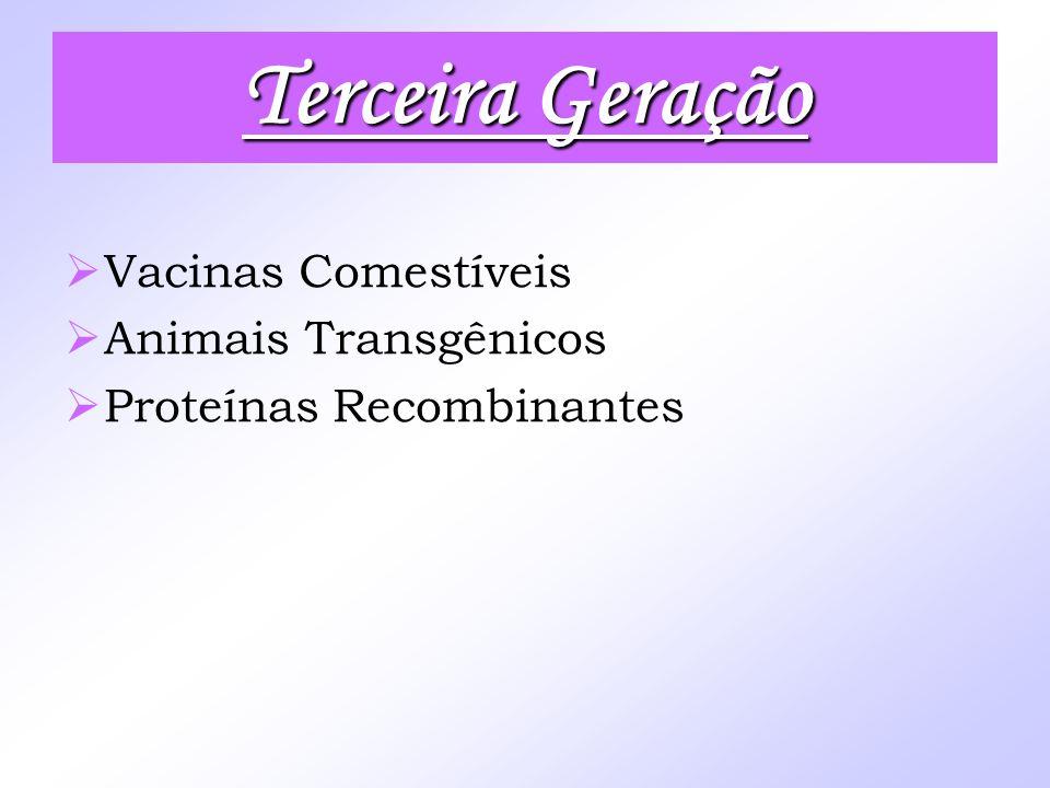 Terceira Geração Vacinas Comestíveis Animais Transgênicos
