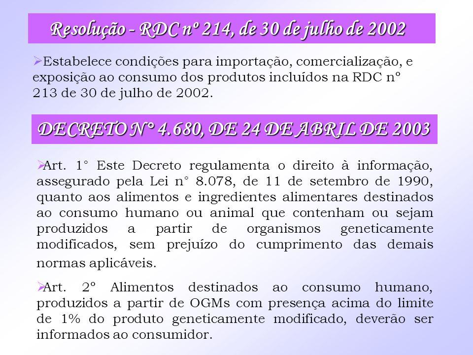 Resolução - RDC nº 214, de 30 de julho de 2002