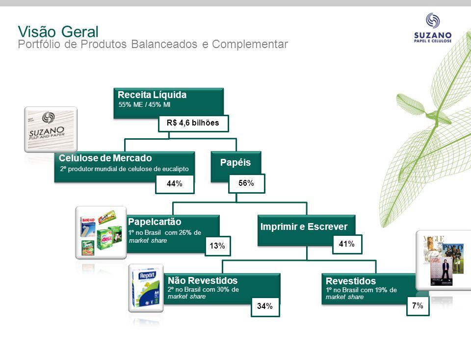 Visão Geral Portfólio de Produtos Balanceados e Complementar Papéis