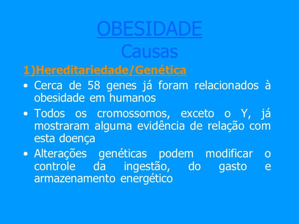 OBESIDADE Causas 1)Hereditariedade/Genética