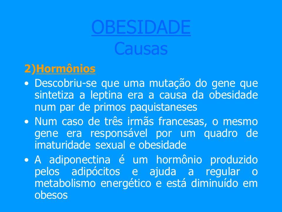OBESIDADE Causas 2)Hormônios