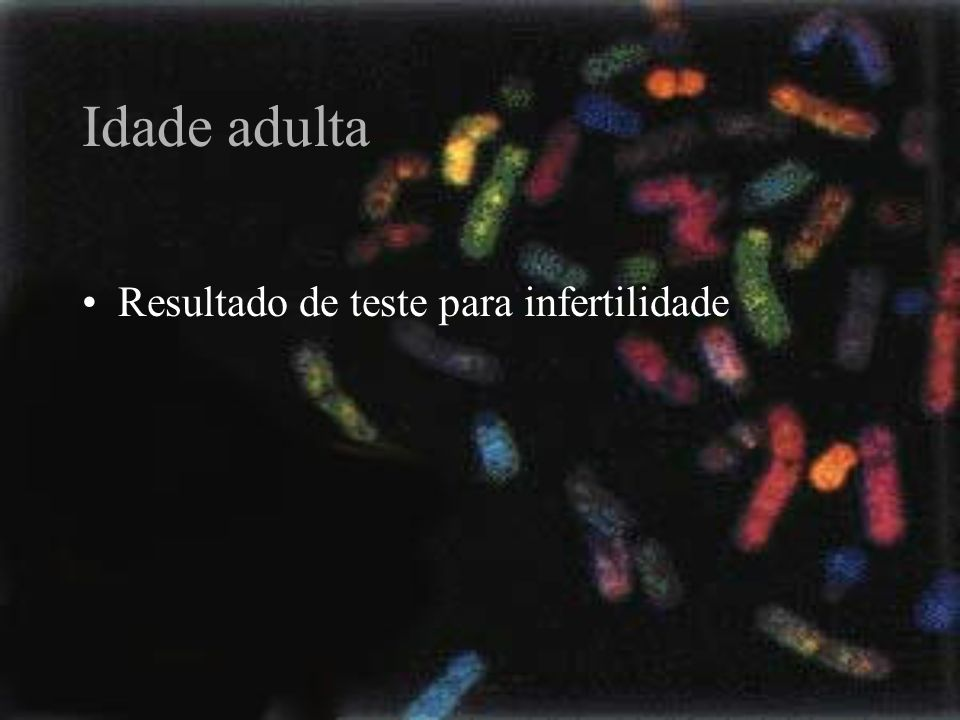 Idade adulta Resultado de teste para infertilidade