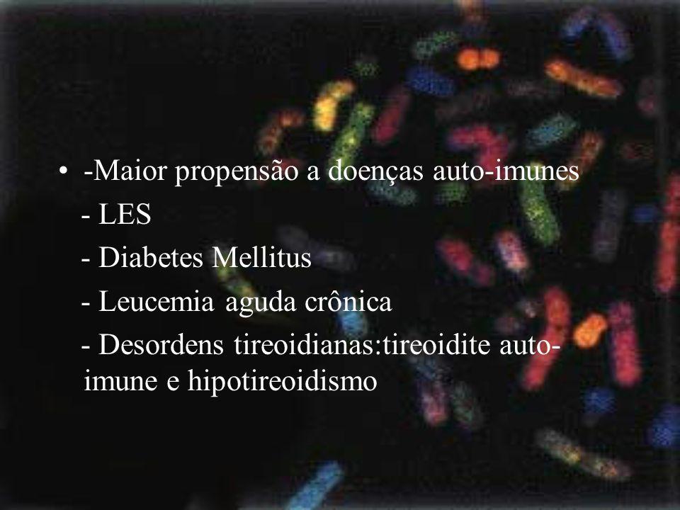 -Maior propensão a doenças auto-imunes