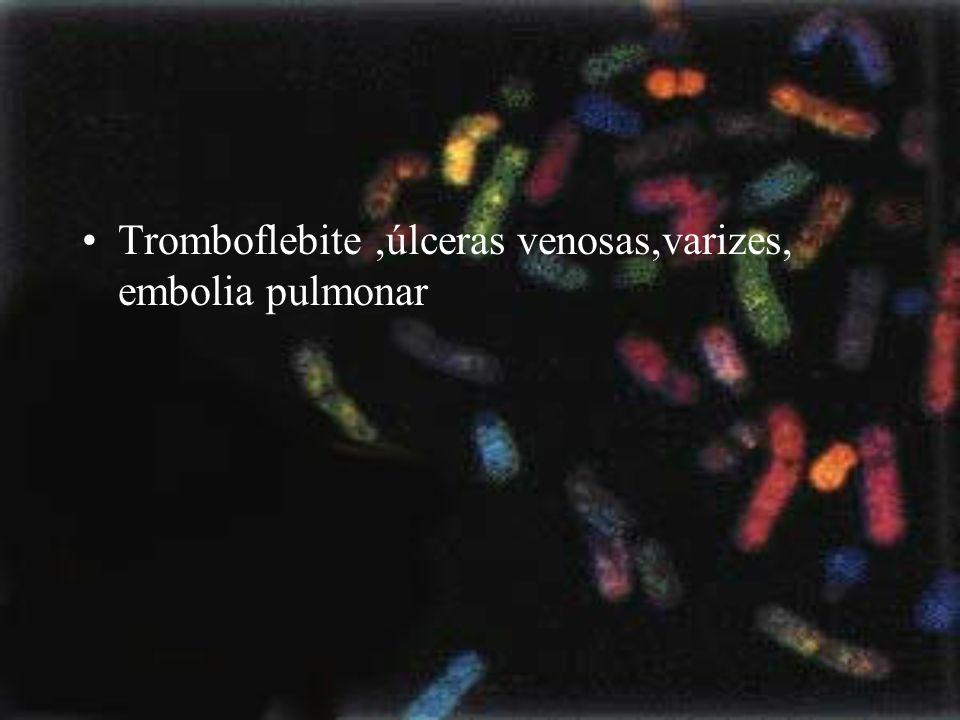 Tromboflebite ,úlceras venosas,varizes, embolia pulmonar