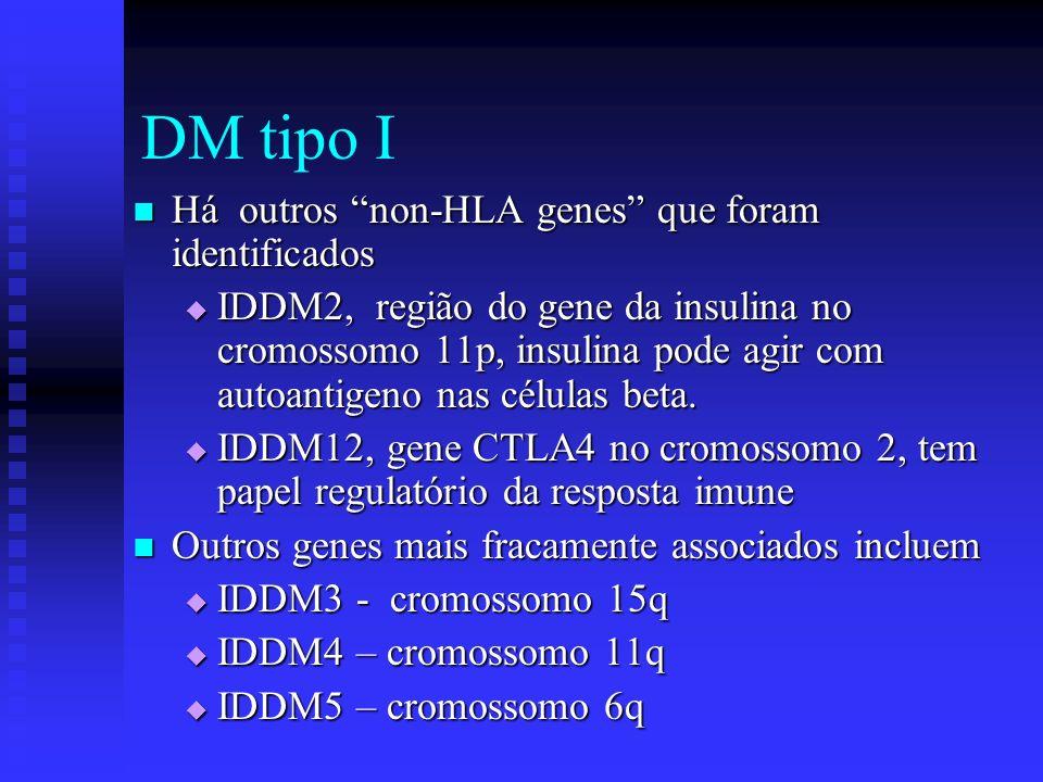 DM tipo I Há outros non-HLA genes que foram identificados