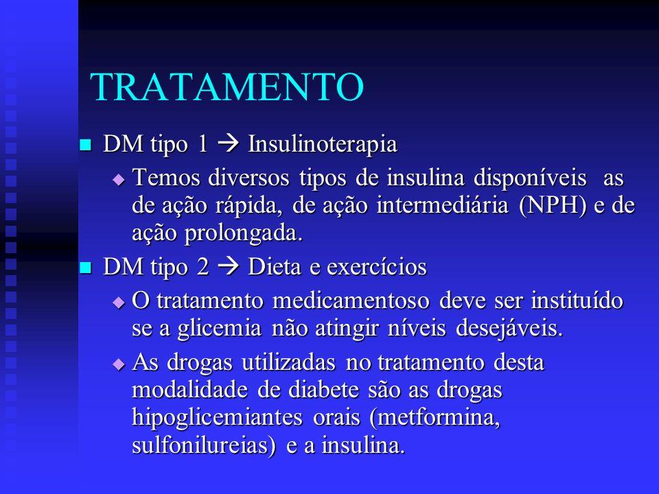 TRATAMENTO DM tipo 1  Insulinoterapia