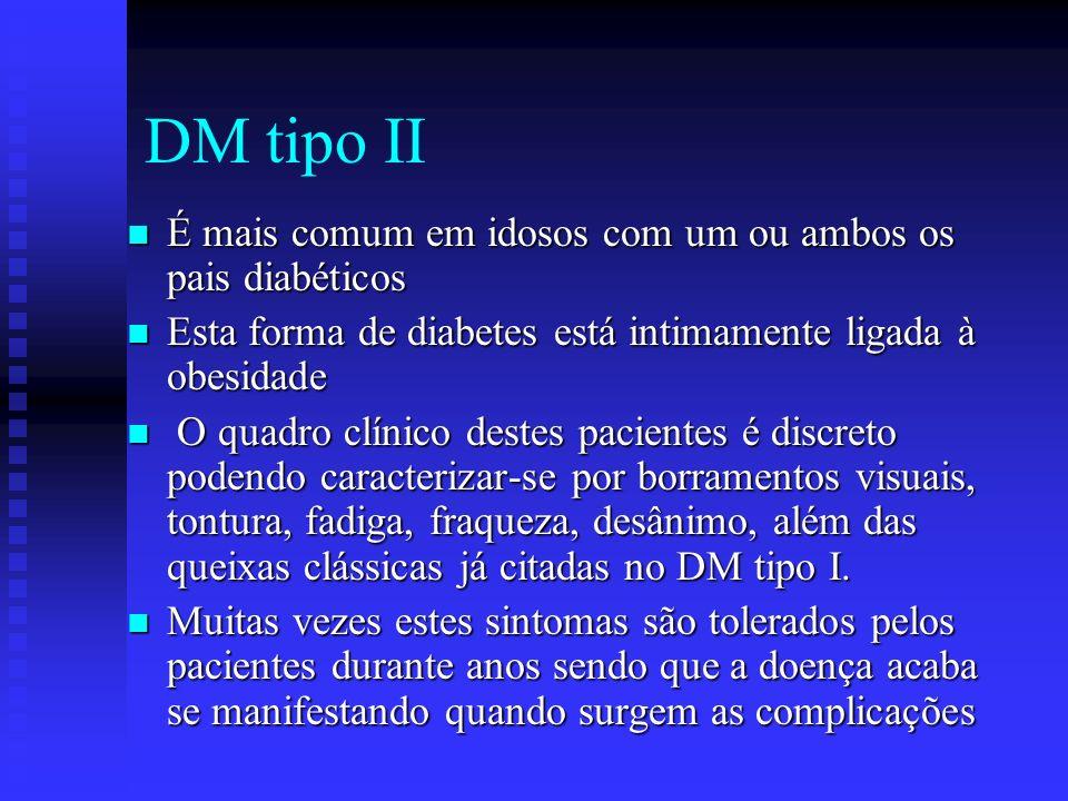 DM tipo II É mais comum em idosos com um ou ambos os pais diabéticos