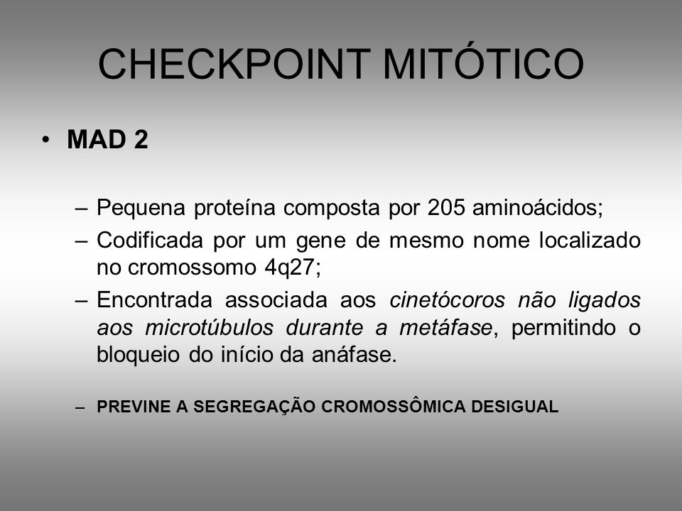 CHECKPOINT MITÓTICO MAD 2