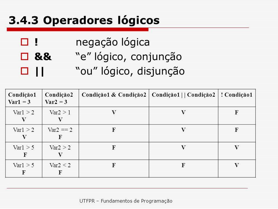 UTFPR – Fundamentos de Programação