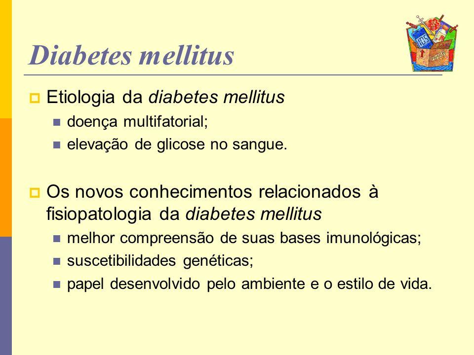 Diabetes mellitus Etiologia da diabetes mellitus