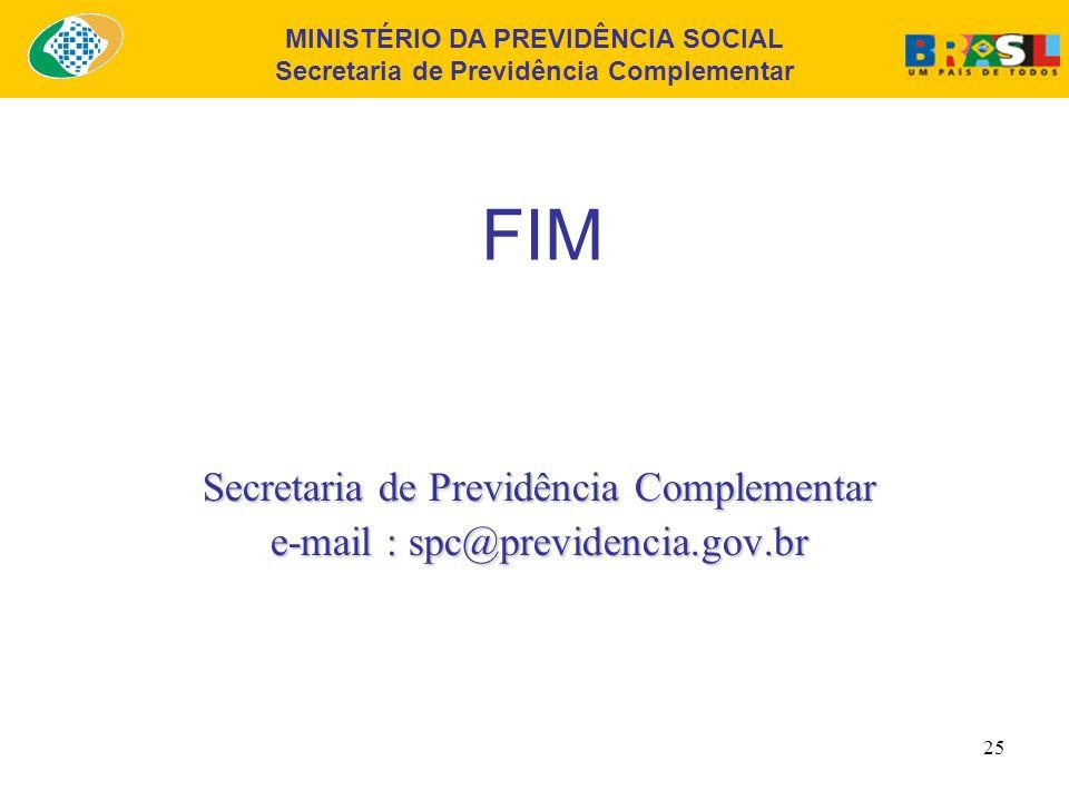 FIM Secretaria de Previdência Complementar