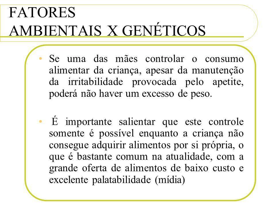 FATORES AMBIENTAIS X GENÉTICOS