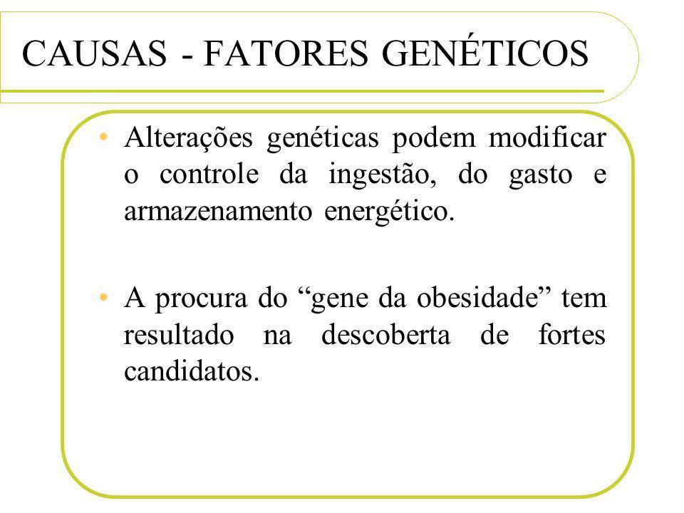 CAUSAS - FATORES GENÉTICOS