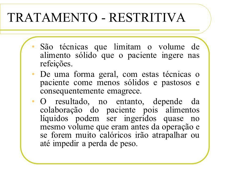 TRATAMENTO - RESTRITIVA