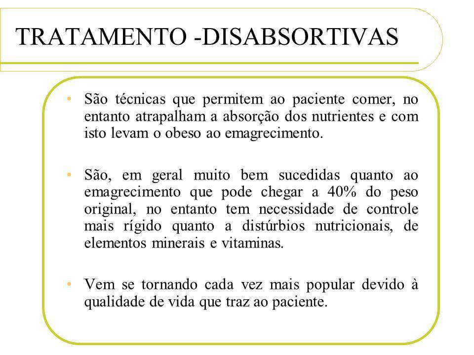 TRATAMENTO -DISABSORTIVAS