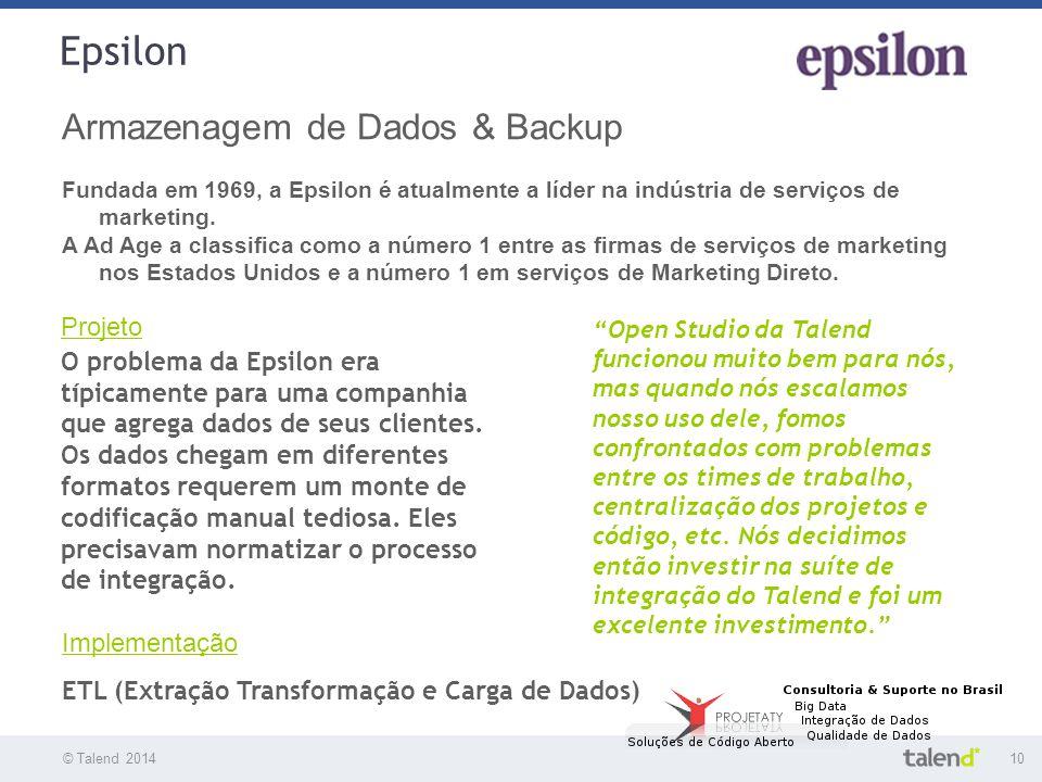 Epsilon Armazenagem de Dados & Backup Projeto