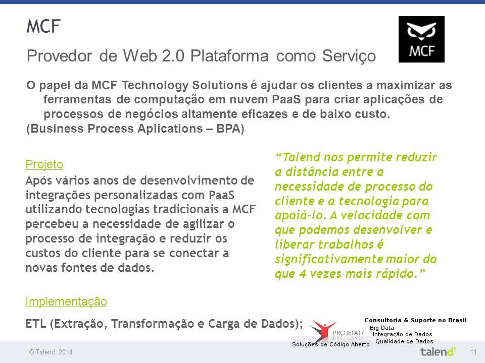 MCF Provedor de Web 2.0 Plataforma como Serviço