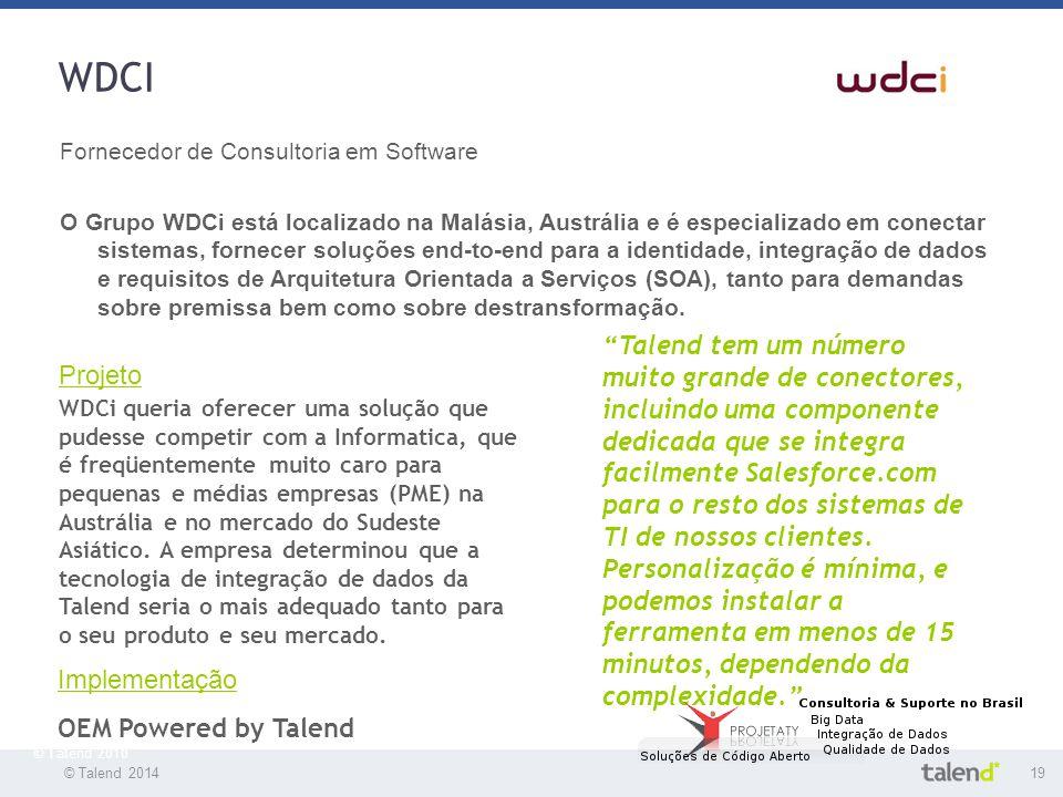 WDCI Fornecedor de Consultoria em Software.
