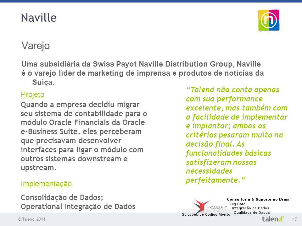 Naville Varejo. Uma subsidiária da Swiss Payot Naville Distribution Group, Naville.