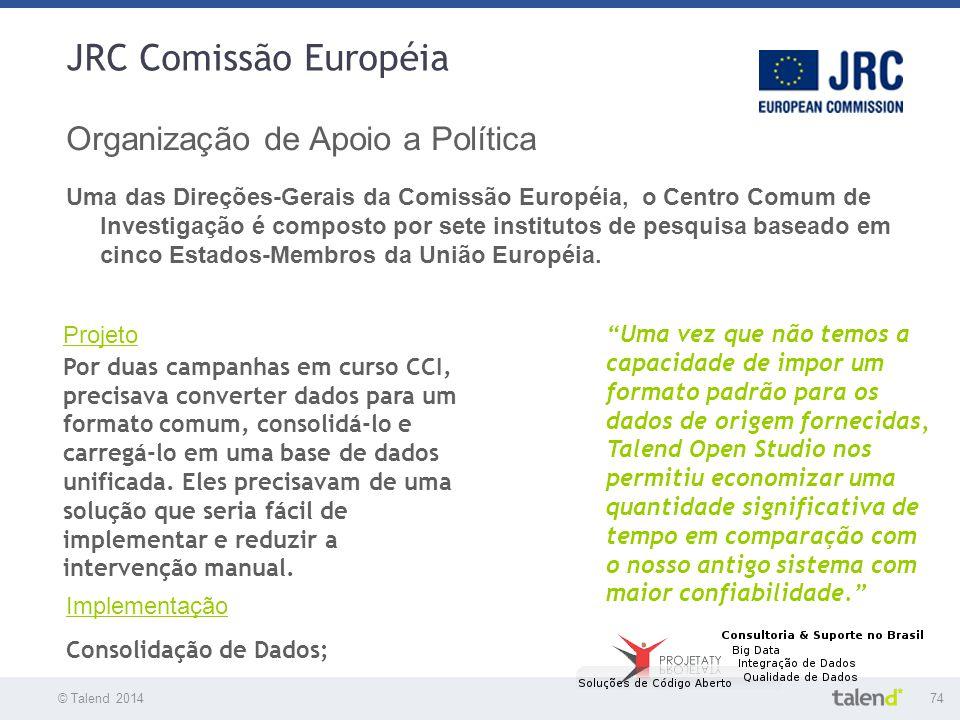 JRC Comissão Européia Organização de Apoio a Política