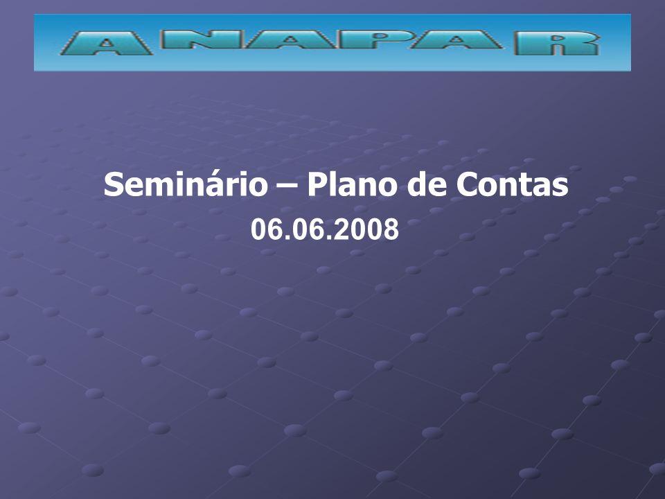 Seminário – Plano de Contas