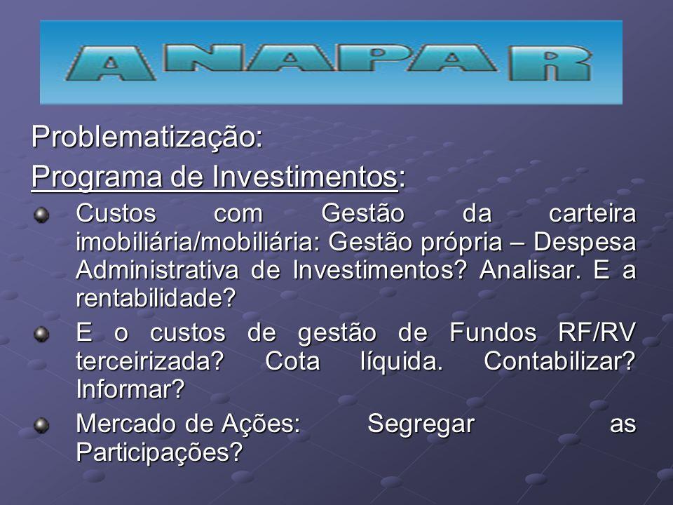 Programa de Investimentos: