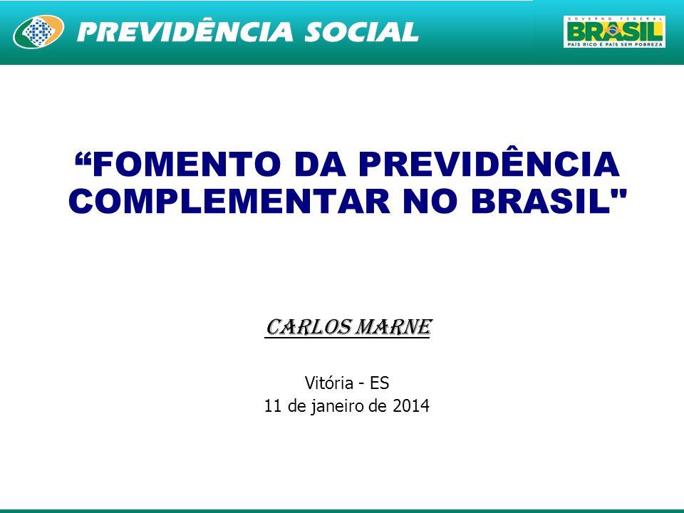 FOMENTO DA PREVIDÊNCIA COMPLEMENTAR NO BRASIL