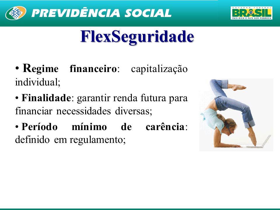 FlexSeguridade Regime financeiro: capitalização individual;