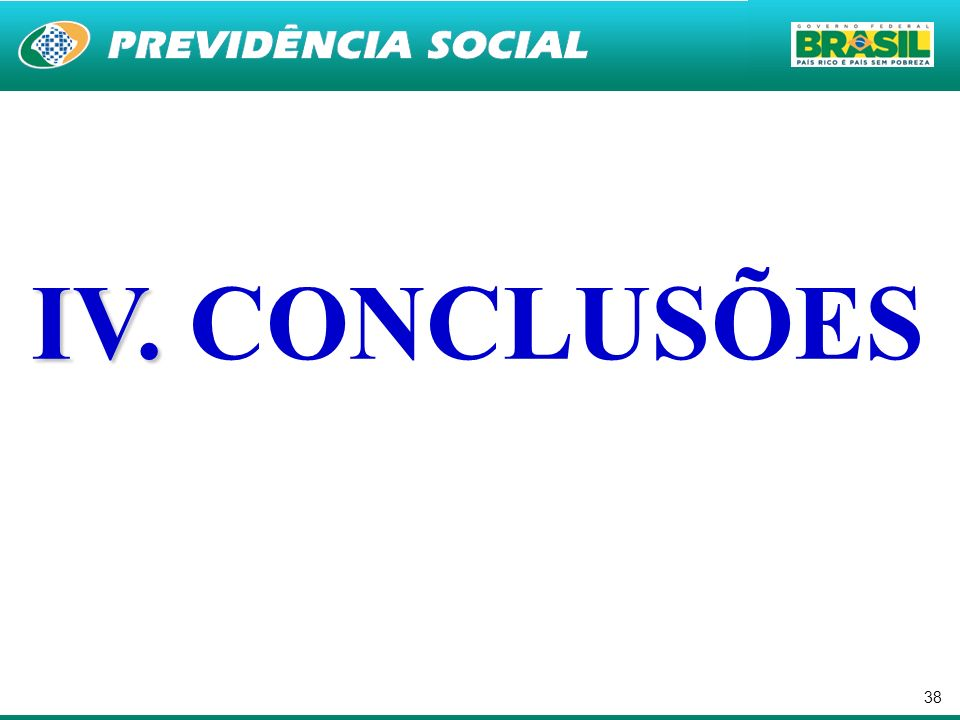 IV. CONCLUSÕES