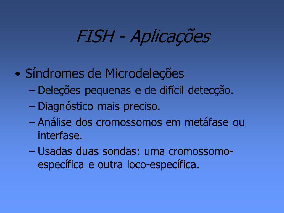 FISH - Aplicações Síndromes de Microdeleções