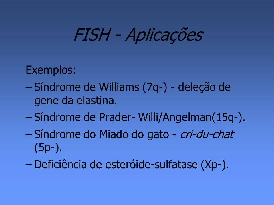 FISH - Aplicações Exemplos: