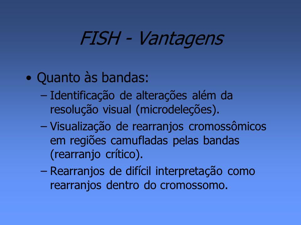 FISH - Vantagens Quanto às bandas: