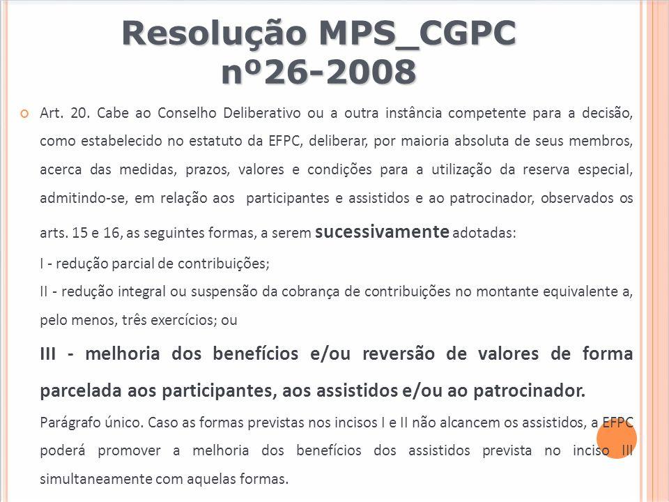 Resolução MPS_CGPC nº26-2008