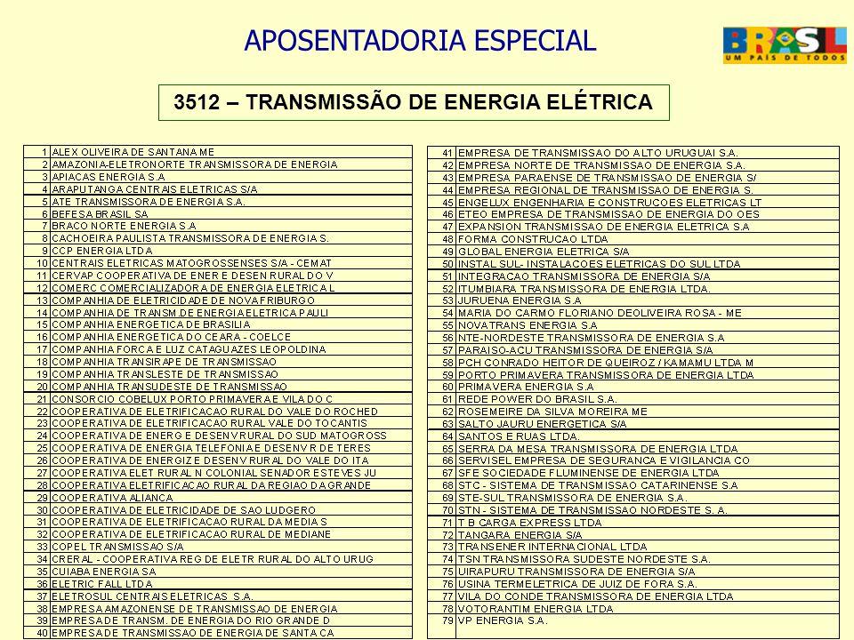 3512 – TRANSMISSÃO DE ENERGIA ELÉTRICA