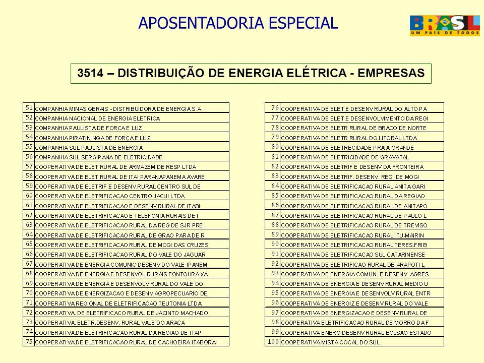 3514 – DISTRIBUIÇÃO DE ENERGIA ELÉTRICA - EMPRESAS