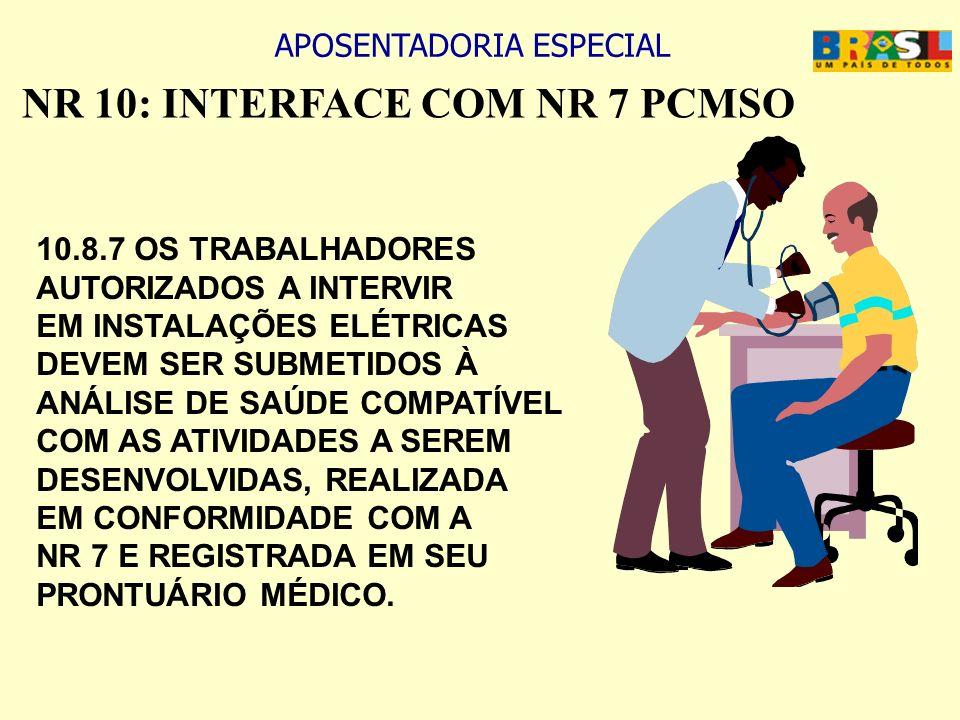 NR 10: INTERFACE COM NR 7 PCMSO