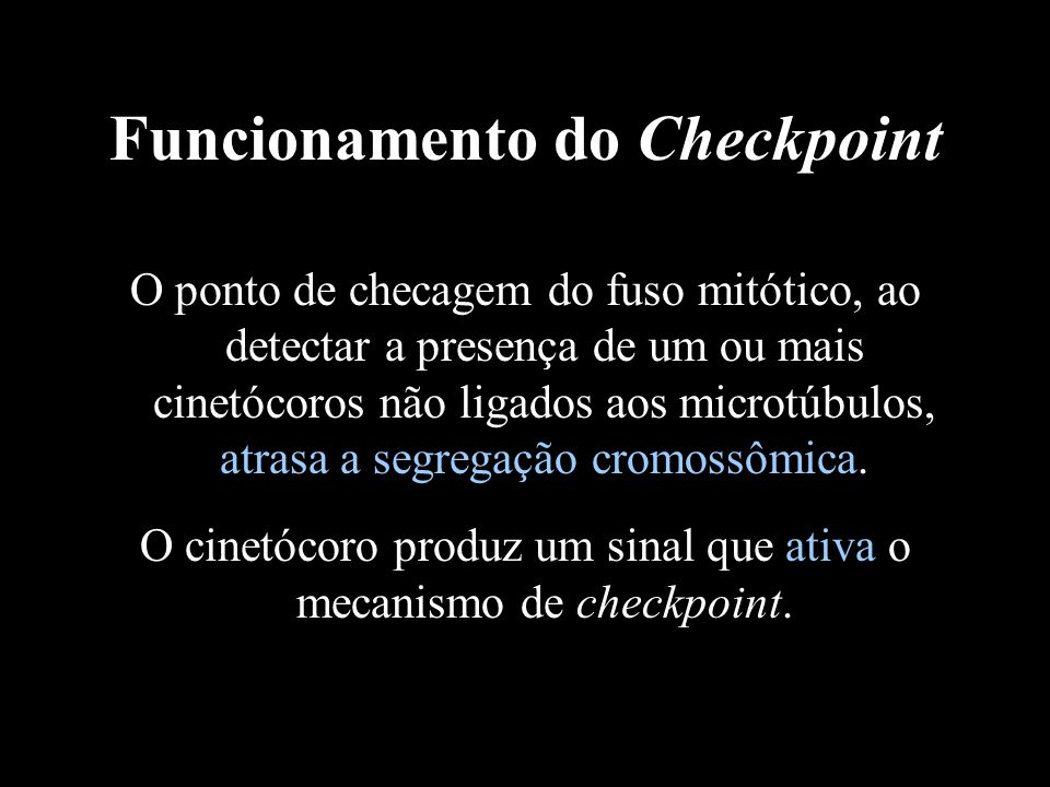 Funcionamento do Checkpoint