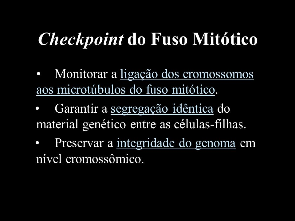 Checkpoint do Fuso Mitótico