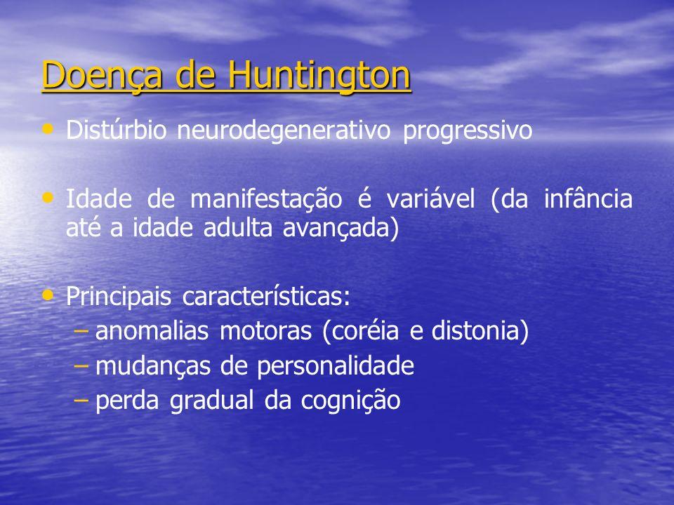 Doença de Huntington Distúrbio neurodegenerativo progressivo