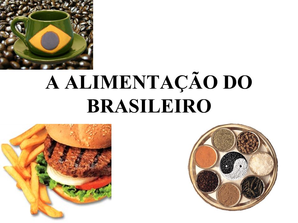 A ALIMENTAÇÃO DO BRASILEIRO