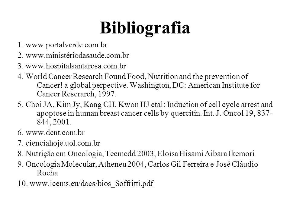 Bibliografia 1. www.portalverde.com.br 2. www.ministériodasaude.com.br