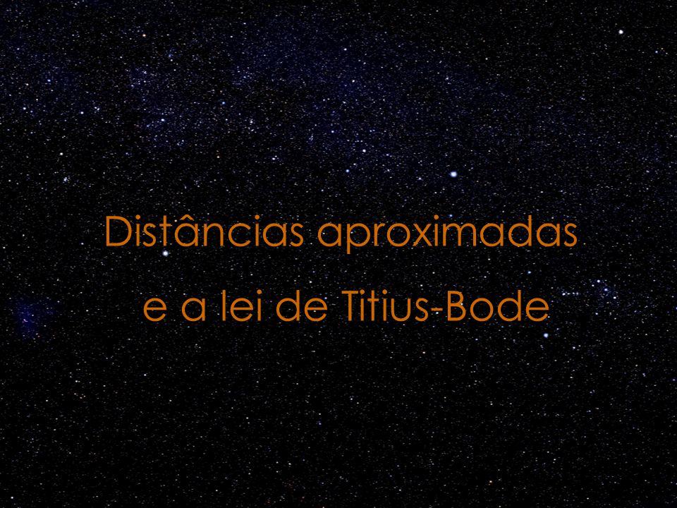 Distâncias aproximadas e a lei de Titius-Bode