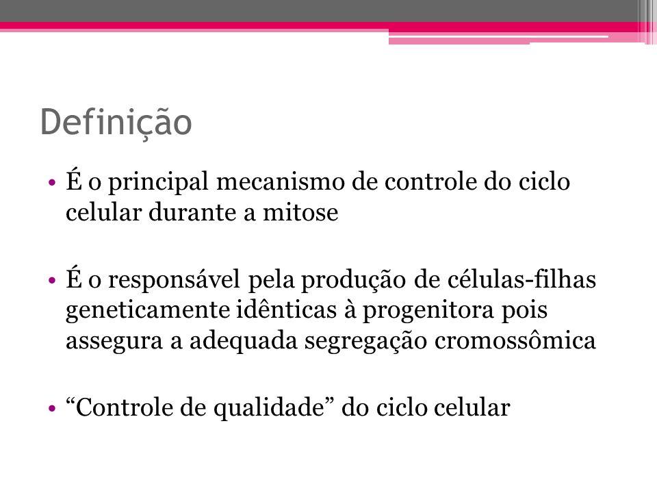 Definição É o principal mecanismo de controle do ciclo celular durante a mitose.