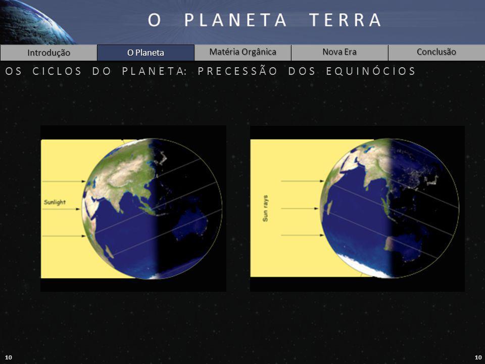 O Planeta O S C I C L O S D O P L A N E T A: P R E C E S S Ã O D O S E Q U I N Ó C I O S.
