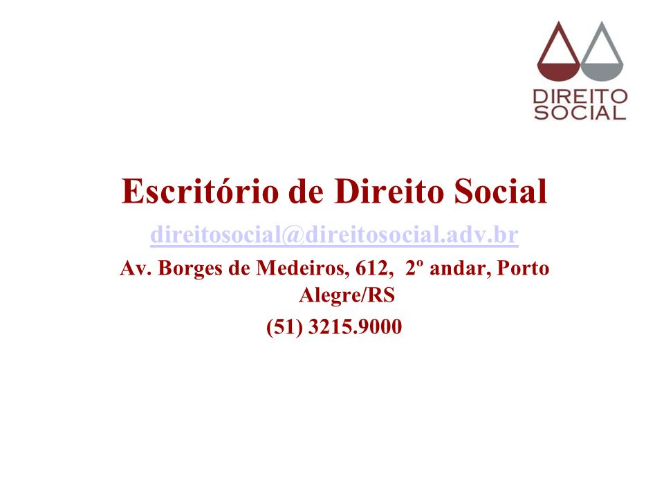 Escritório de Direito Social