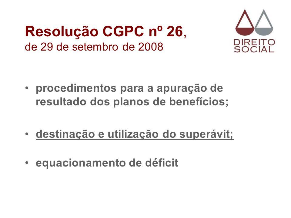 Resolução CGPC nº 26, de 29 de setembro de 2008